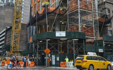 Construction worker dies after two-story fall down elevator shaft in Midtown