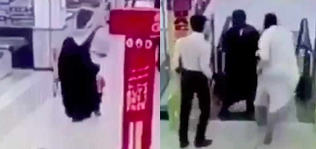 A video of a Saudi man saving a child from death on an escalator is going viral