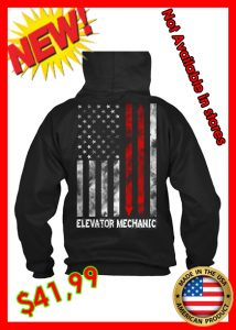 elevator mechanic hoodie usa flag