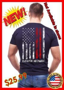 ELEVATOR MECHANIC USA FLAG TEE